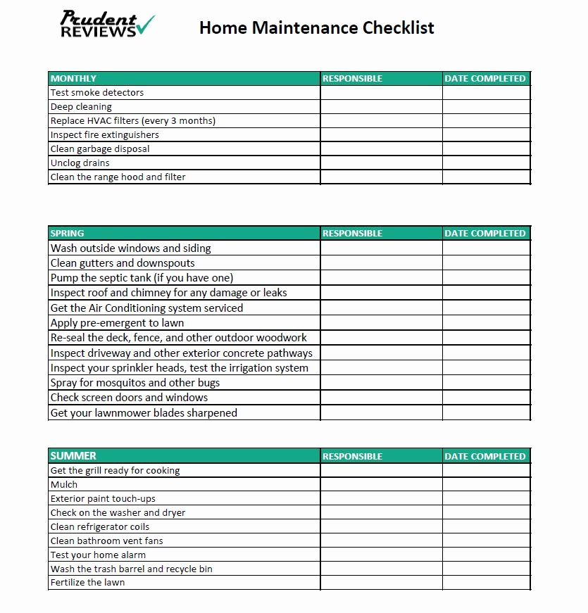 Home Maintenance Checklist Template Awesome the Ultimate Home Maintenance Checklist Printable