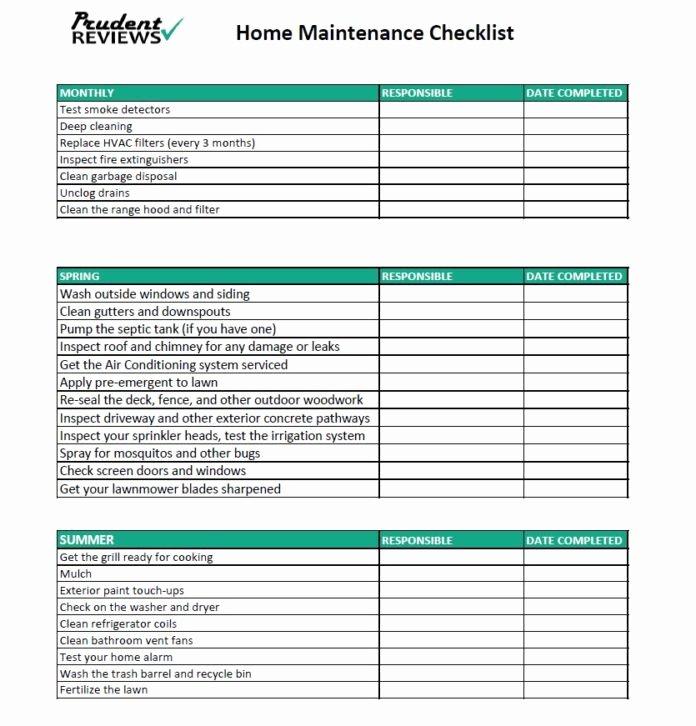 Home Maintenance Checklist Template Best Of the Ultimate Home Maintenance Checklist Printable
