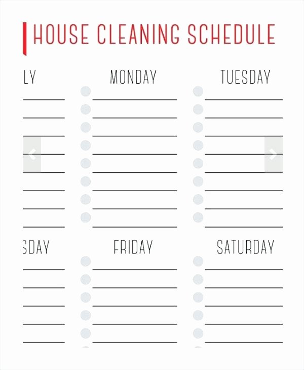 Home Maintenance Checklist Template Fresh Printable Weekly House Cleaning Schedule Home Maintenance