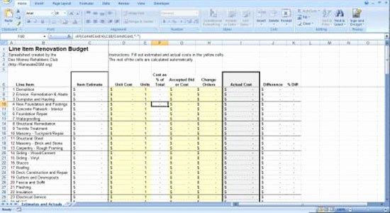 Home Remodel Budget Template Best Of All Worksheets Construction Estimation Worksheets