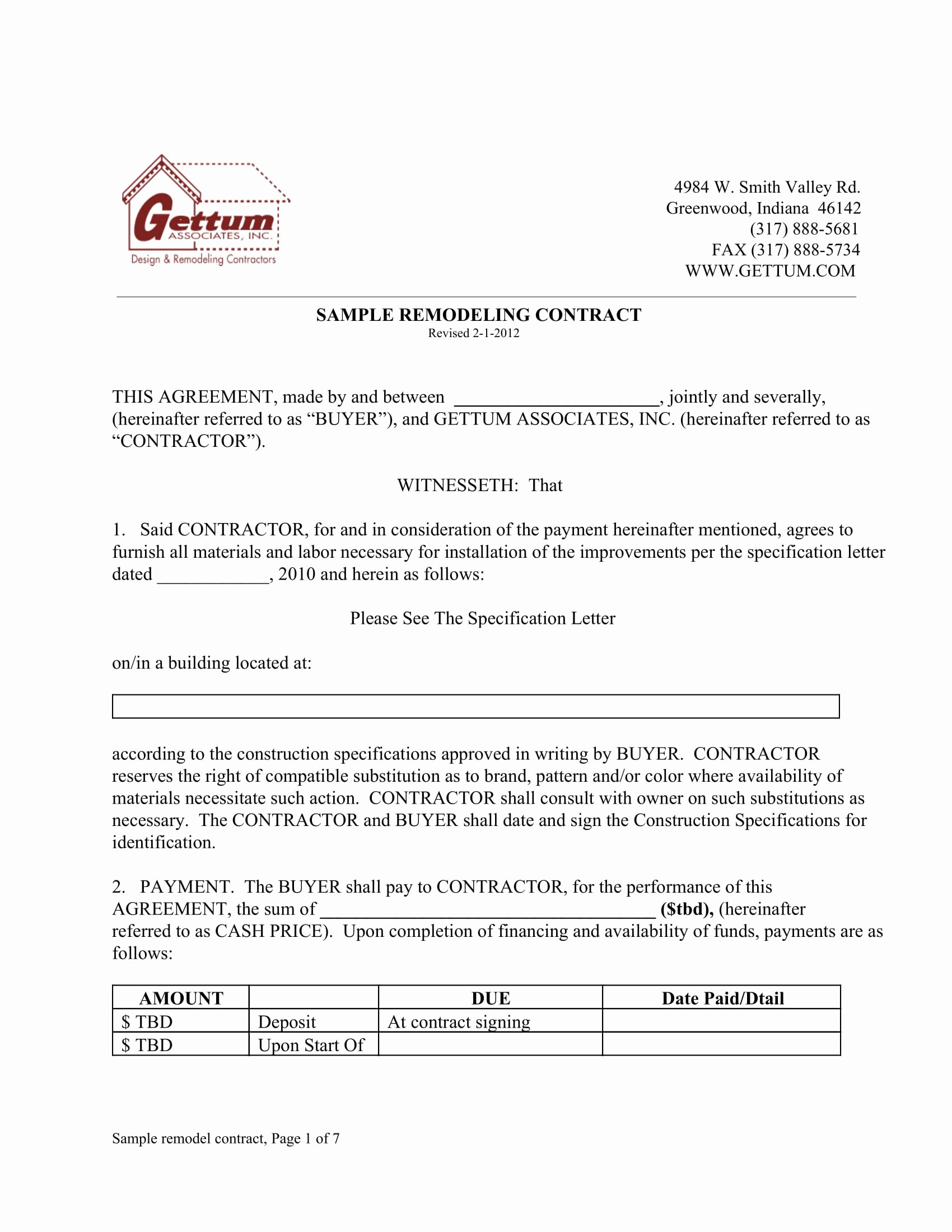 Home Remodeling Contract Template Awesome 9 Bathroom Renovation Contract Template Examples Pdf