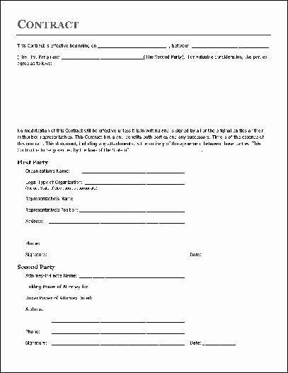 Home Remodeling Contract Template Best Of Free Printable Home Improvement Contract form Generic