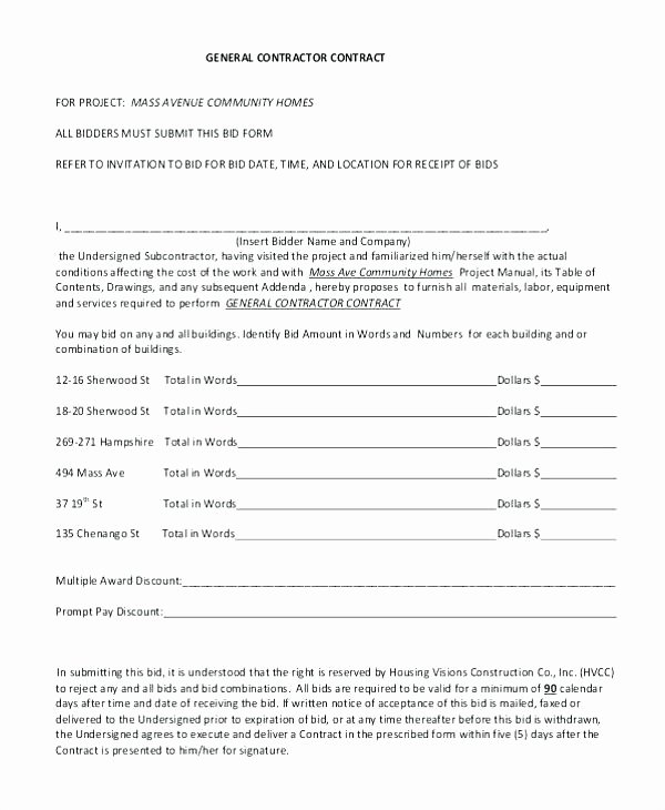 Home Remodeling Contract Template Fresh Remodeling Contracts Template – thealertfo