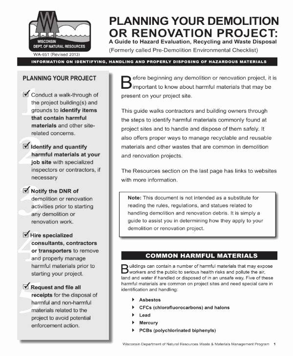 Home Renovation Project Plan Template New 7 Home Renovation Project Plan – Pdf