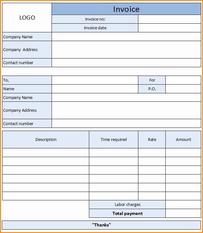 Home Repair Invoice Template Best Of 11 Auto Repair Invoice Template