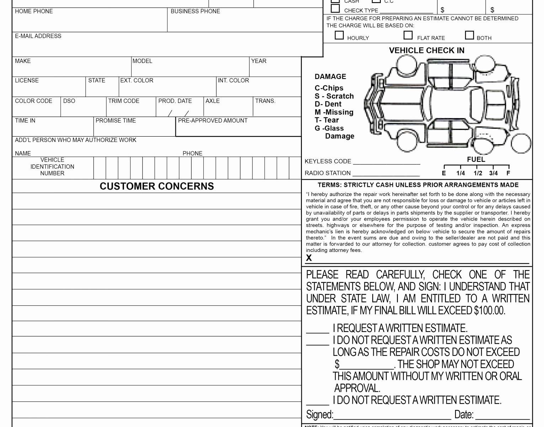 Home Repair Invoice Template Best Of Briliant S Free Auto Repair Invoice Template