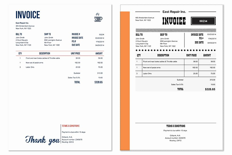 Home Repair Invoice Template Lovely Invoice Home