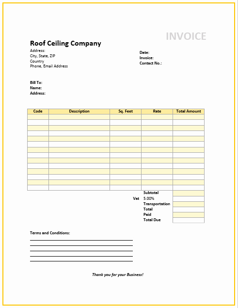 Home Repair Invoice Template New Ceiling Repair Estimate