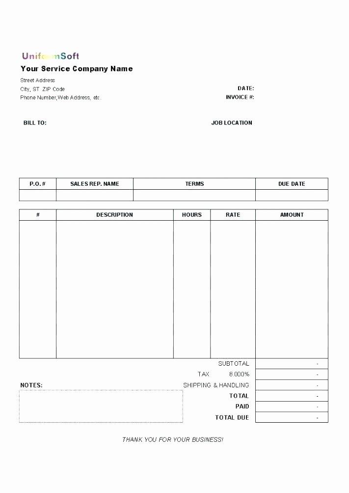 Home Repair Invoice Template Unique Blank Invoices Pdf Blank Auto Repair Invoice Blank Auto