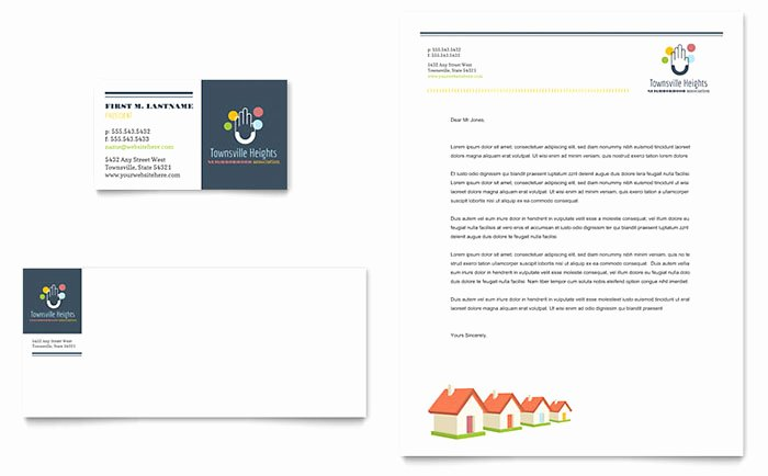 Homeowners association Newsletter Template Awesome Homeowners association Business Card & Letterhead Template