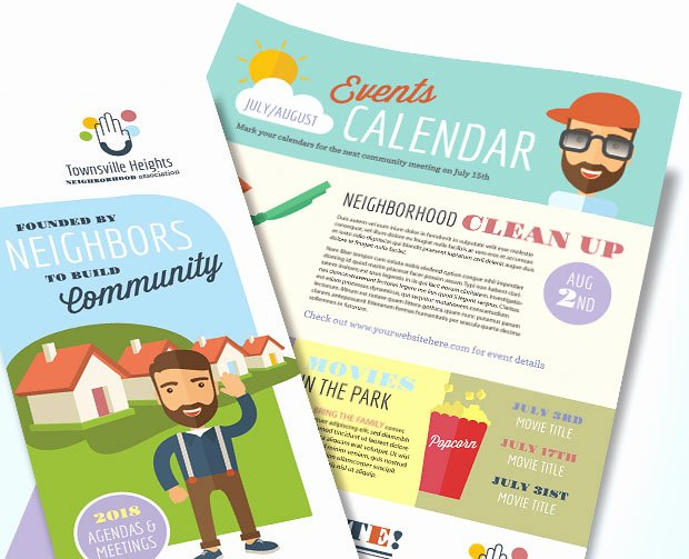 Homeowners association Newsletter Template Awesome Homeowners association Newsletter Marketing – Design