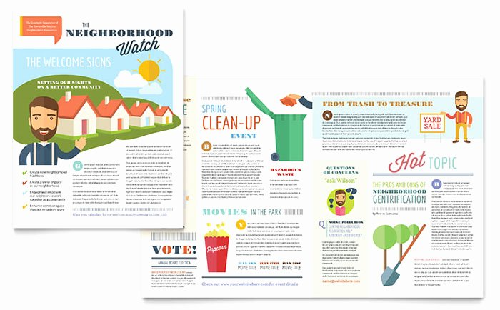 Homeowners association Newsletter Template Awesome Homeowners association Newsletter Template Word & Publisher