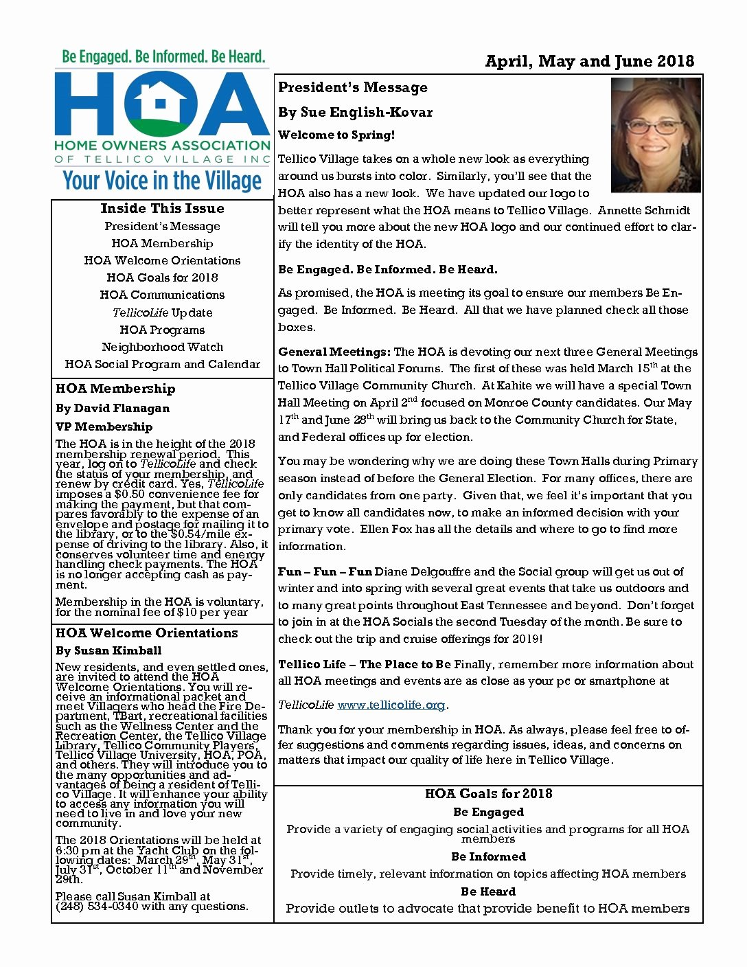 Homeowners association Newsletter Template Best Of Tellico Village Homeowners association – Be Informed – Be