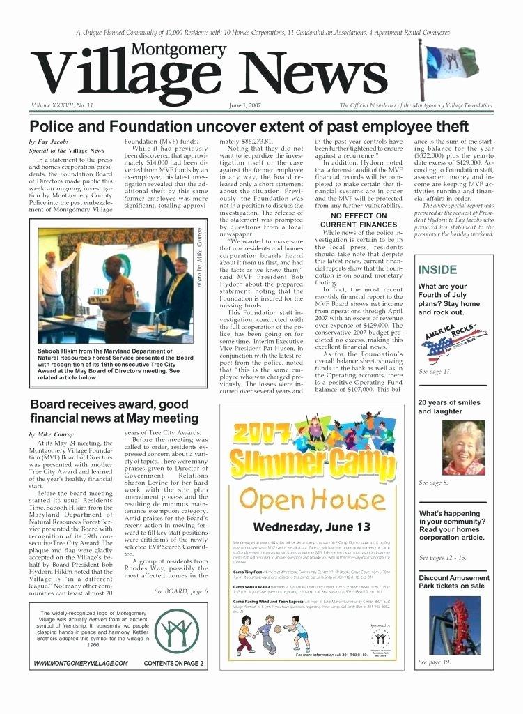 Homeowners association Newsletter Template Elegant Condo Newsletter Template Newsletter Templates Elegant