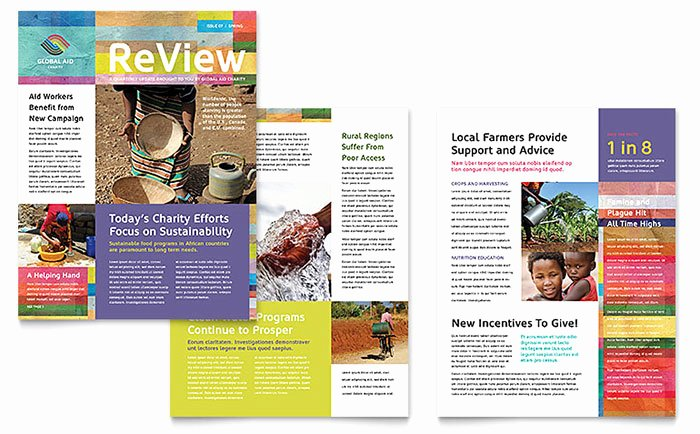 Homeowners association Newsletter Template Elegant Humanitarian Aid organization Newsletter Template Word