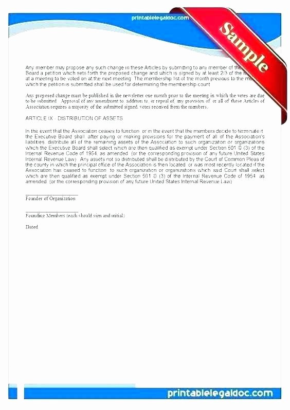 Homeowners association Newsletter Template Fresh Articles Of association Template Free – Entrerocks