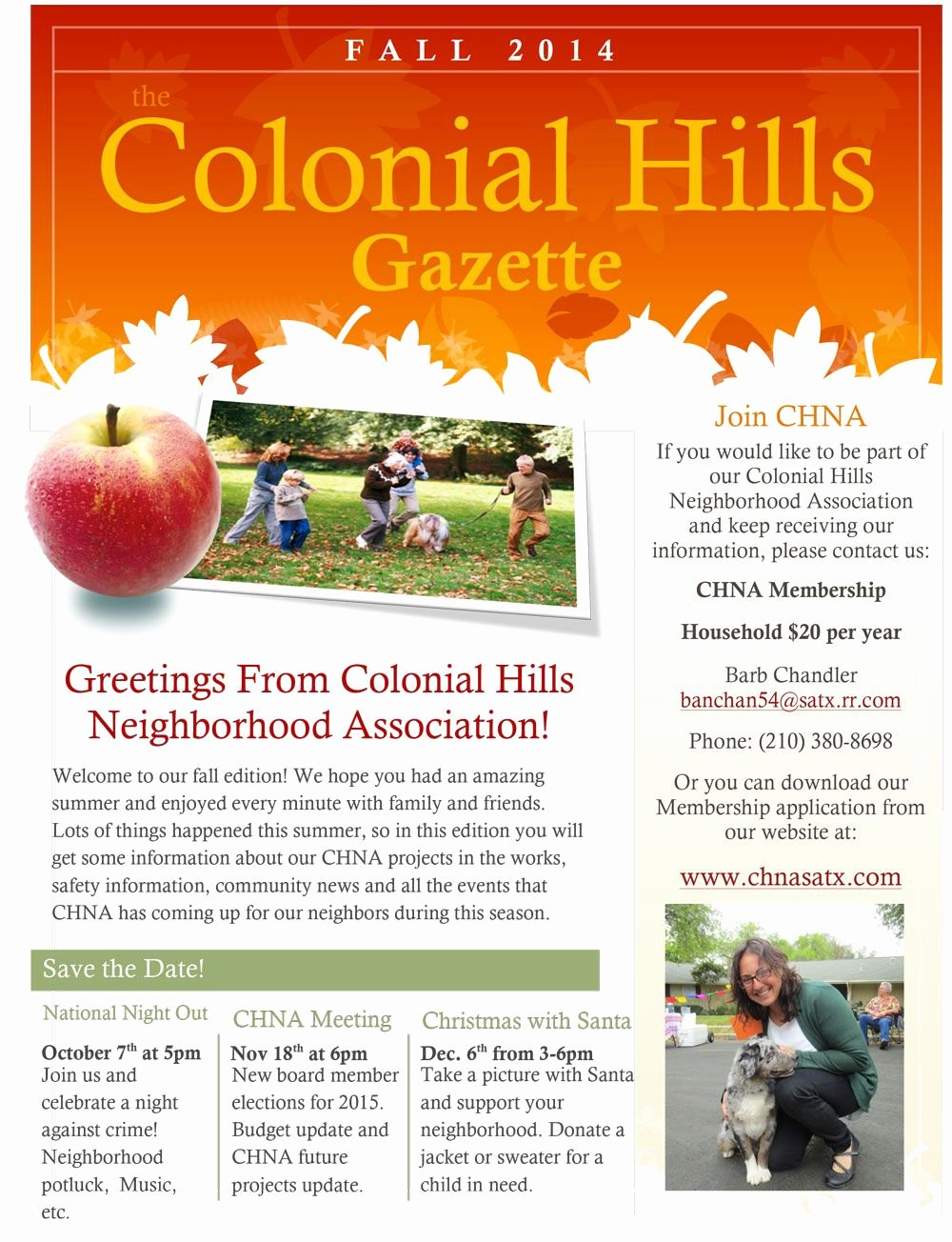 Homeowners association Newsletter Template Fresh Our Colonial Hills Neighborhood association Fall