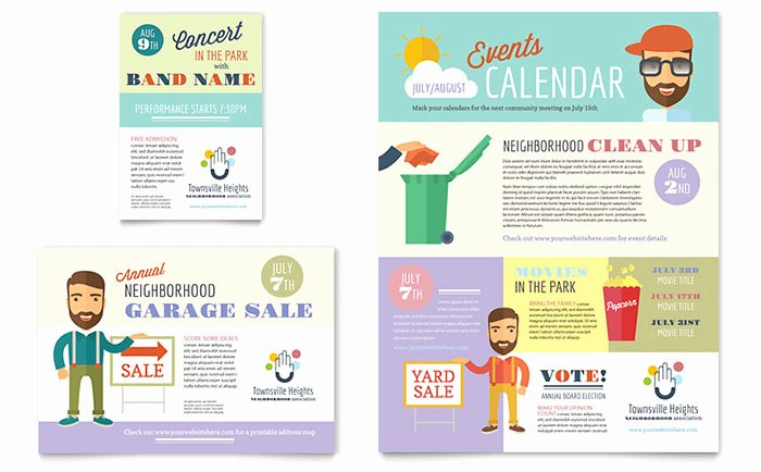 Homeowners association Newsletter Template Inspirational Homeowners association Flyer & Ad Template Design