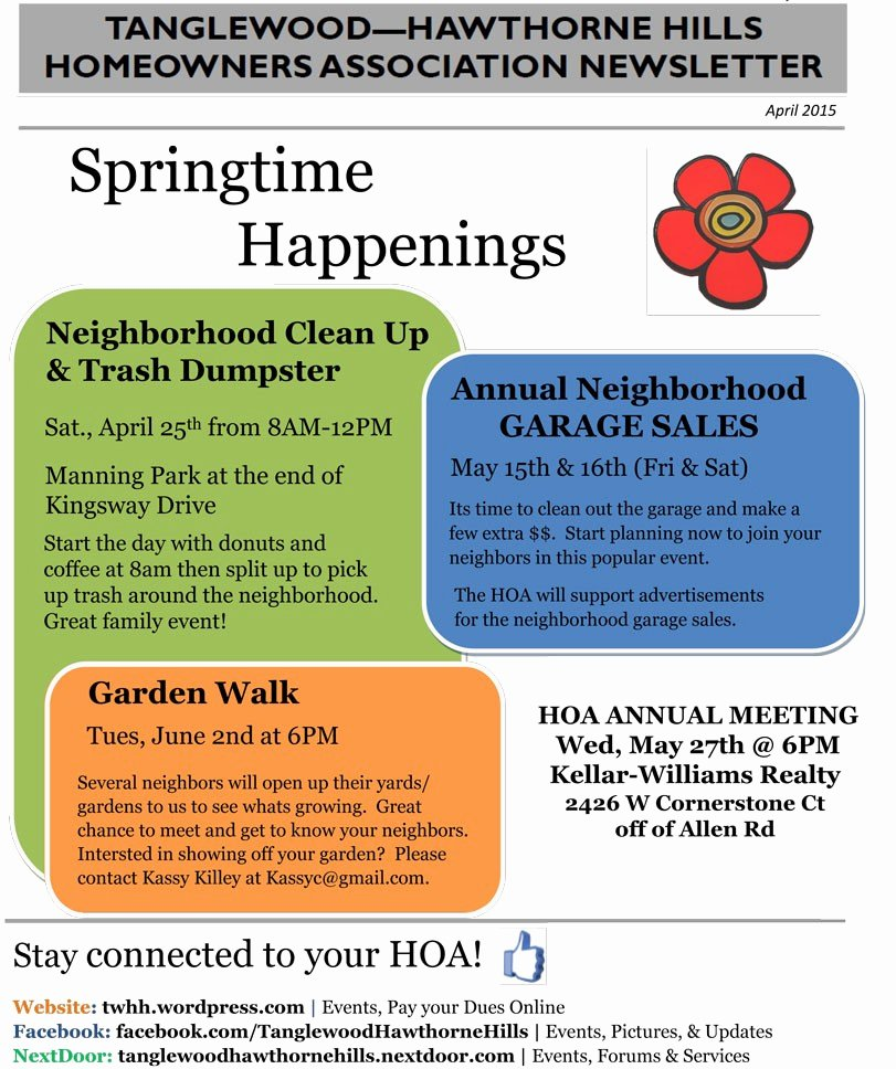 Homeowners association Newsletter Template Lovely 99 Homeowners association Newsletter Template Half Page