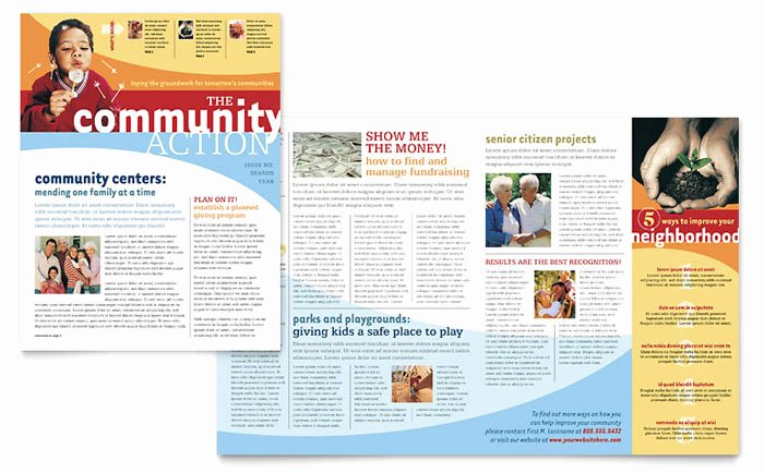 Homeowners association Newsletter Template Lovely Munity Non Profit Newsletter Template Design