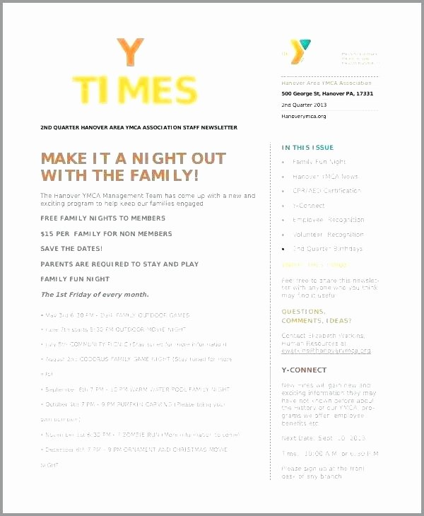 Homeowners association Newsletter Template Lovely Spring Newsletter Template