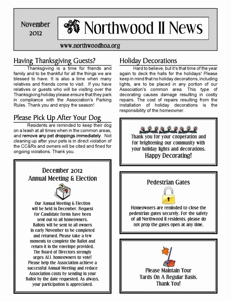 Homeowners association Newsletter Template Unique 81 Best Free Templates Images On Pinterest