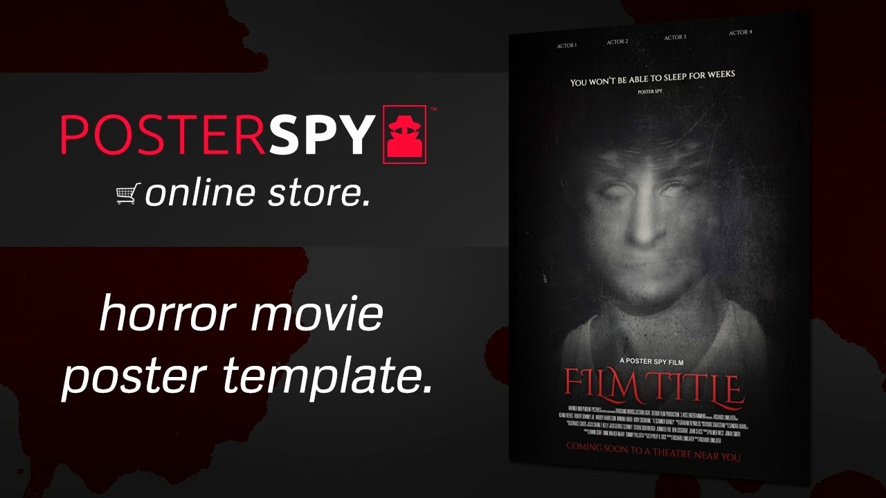 Horror Movie Poster Template Beautiful Horror Movie Poster Template Psd Poster Spy Line Store