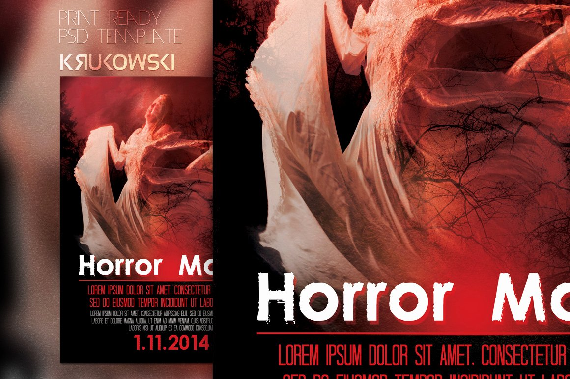 Horror Movie Poster Template Elegant Horror Movie Poster Flyer Flyer Templates On Creative