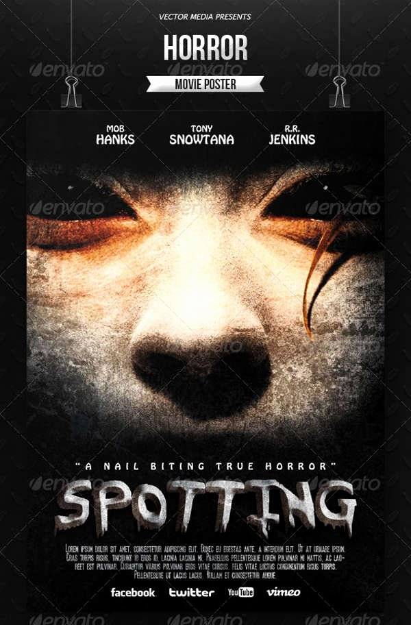 Horror Movie Poster Template Fresh 32 Advertising Poster Templates