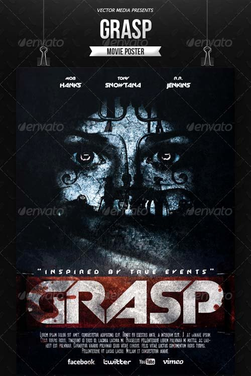 Horror Movie Poster Template Fresh Flyer Templates Graphicriver Horror Movie Poster [vol
