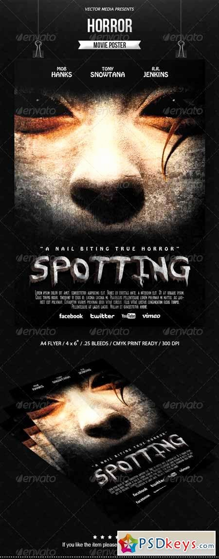 Horror Movie Poster Template Fresh Horror Movie Poster Free Download Shop