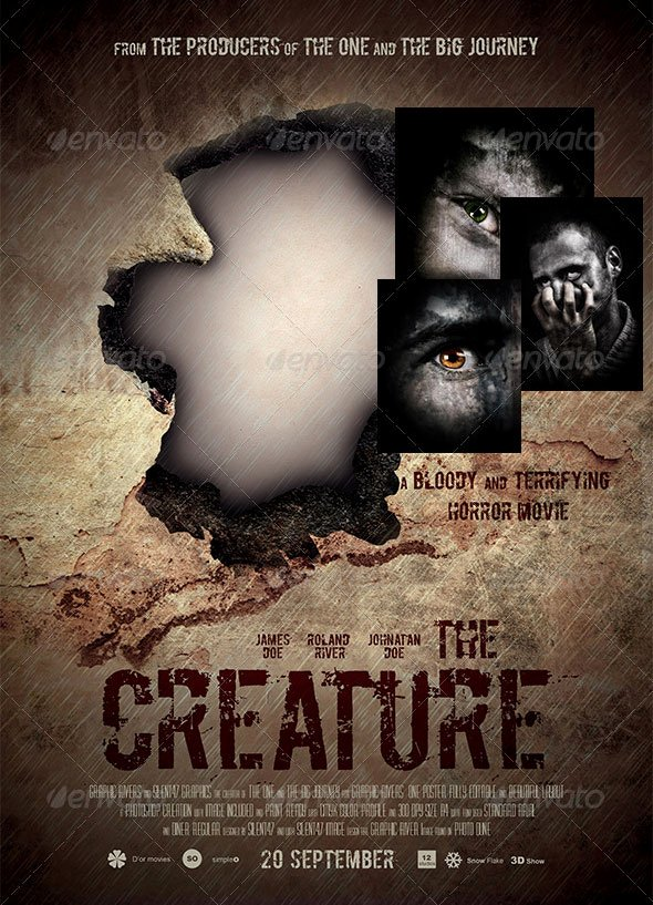 Horror Movie Poster Template Lovely 17 Great Movies Poster Psds – Desiznworld