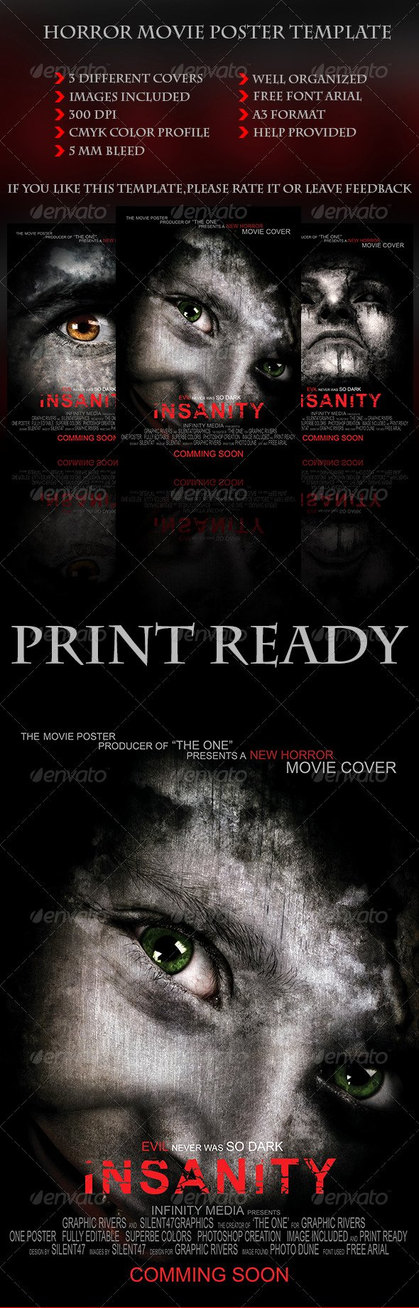 Horror Movie Poster Template Lovely Horror Movie Poster Template by Silentgraphics