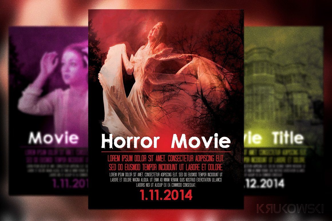 Horror Movie Poster Template Luxury Horror Movie Poster Flyer Flyer Templates Creative