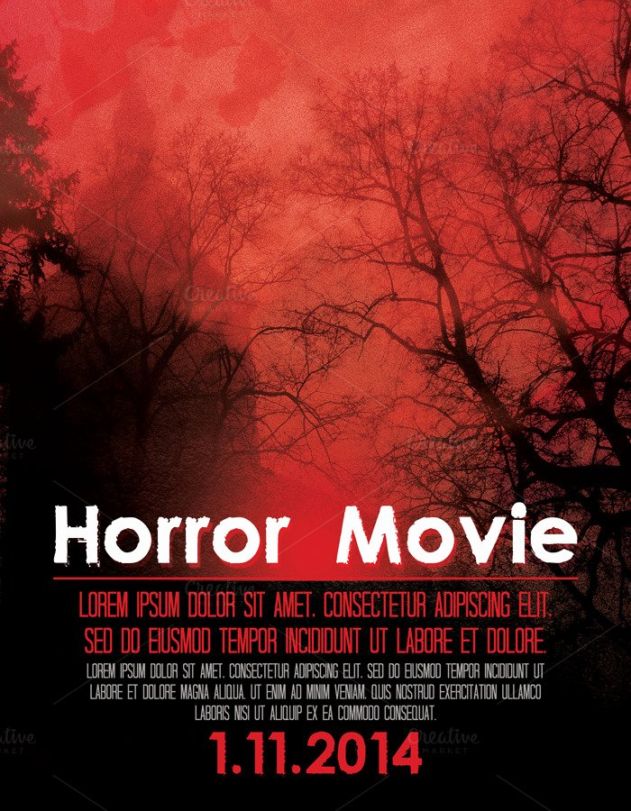 Horror Movie Poster Template Luxury Horror Movie Poster Flyer Flyer Templates On Creative