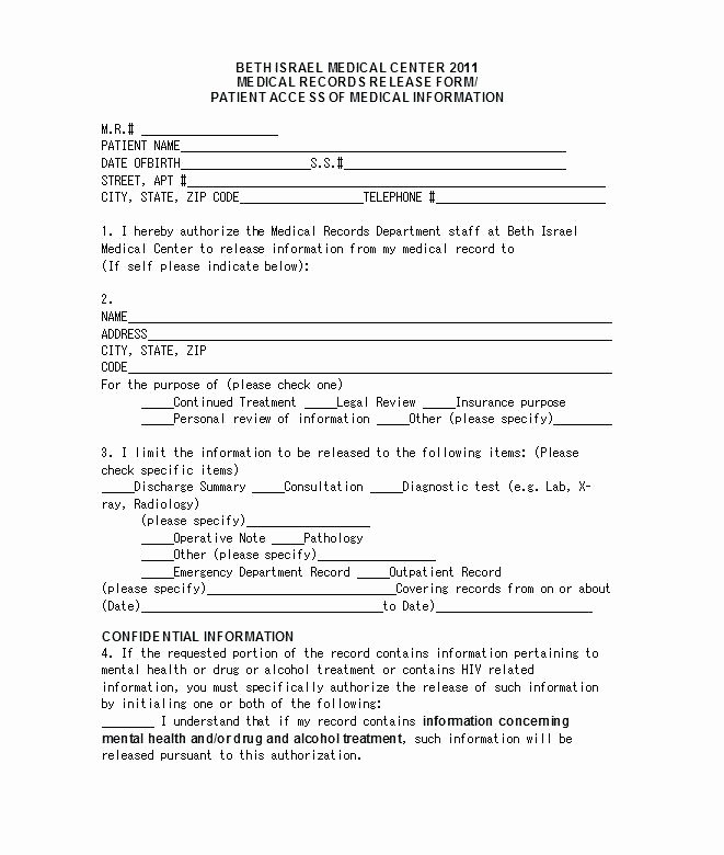Hospital Release form Template Best Of Medical Summary Template Hospital Discharge format Legal