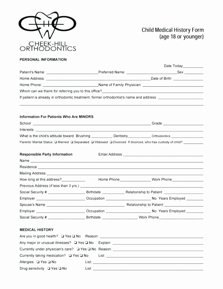 Hospital Release form Template Fresh Printable Hospital Discharge forms Awesome Blank Medical