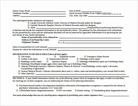 Hospital Release form Template Luxury 12 Hospital Release forms to Download for Free