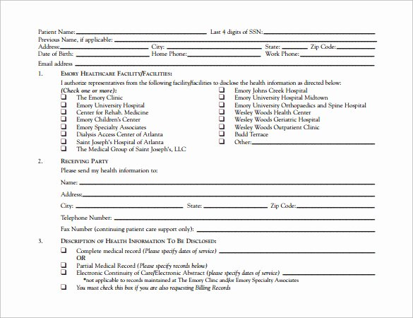 Hospital Release form Template New 12 Hospital Release forms to Download for Free
