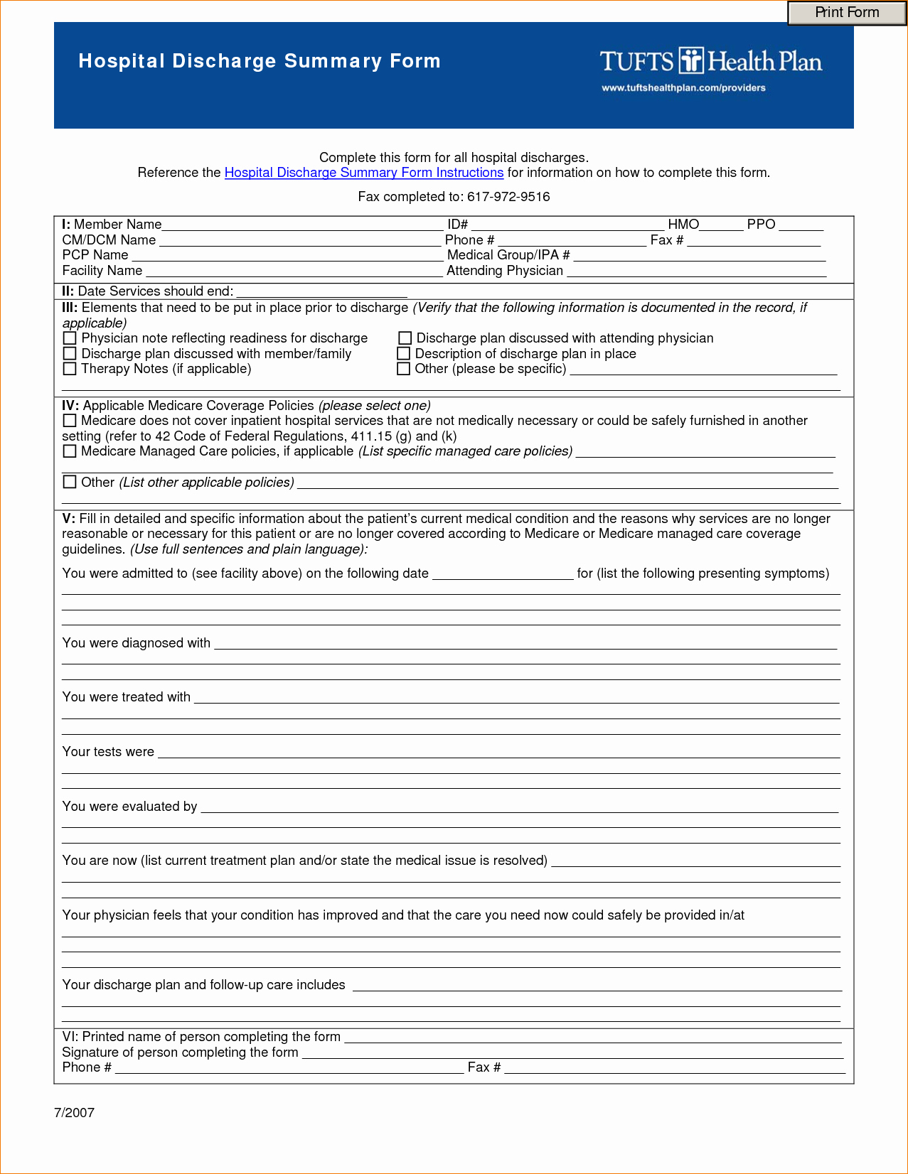Hospital Release form Template New 8 Hospital Discharge Papers Templateagenda Template Sample