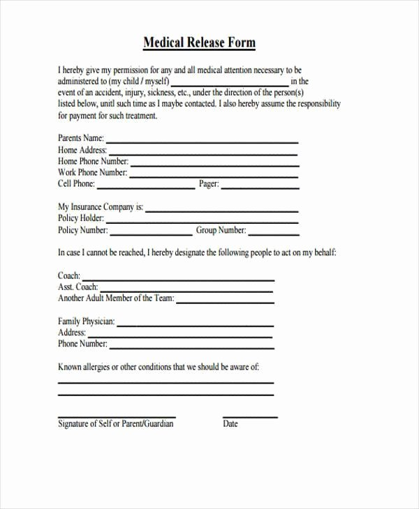 Hospital Release form Template Unique Hospital Release form Template the Real Reason Behind