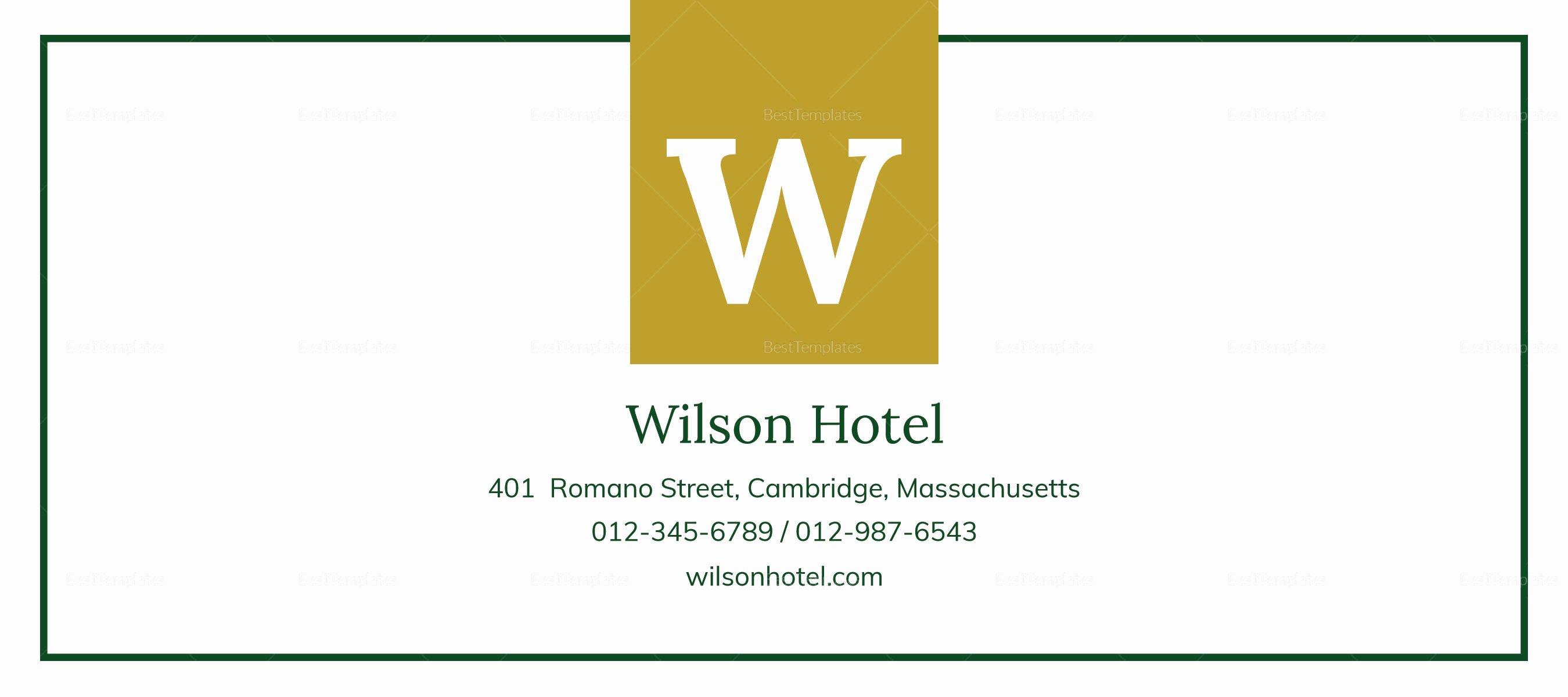 Hotel Gift Certificate Template Elegant Hotel Gift Certificate Design Template In Psd Word