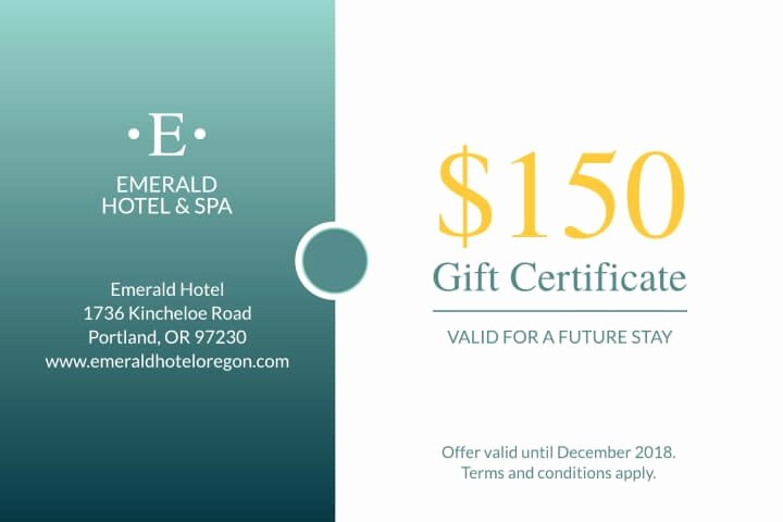 Hotel Gift Certificate Template Fresh Custom Gift Certificate Printing Line