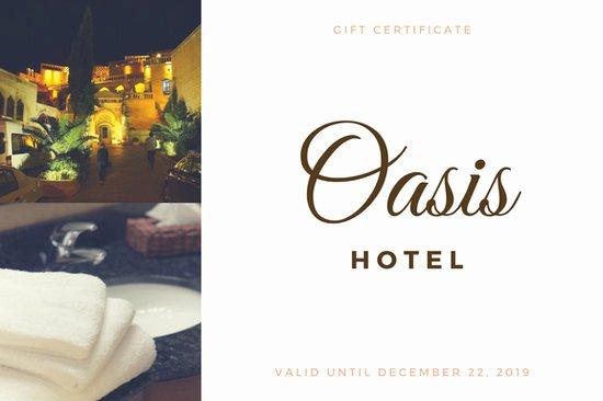 Hotel Gift Certificate Template Fresh Customize 172 Hotel Gift Certificate Templates Online Canva