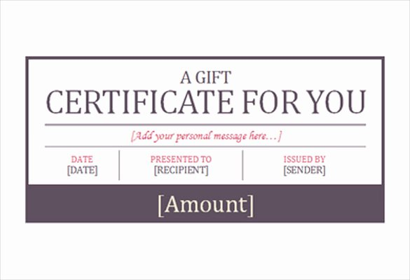 Hotel Gift Certificate Template Inspirational 7 Hotel Gift Certificate Templates Free Sample Example