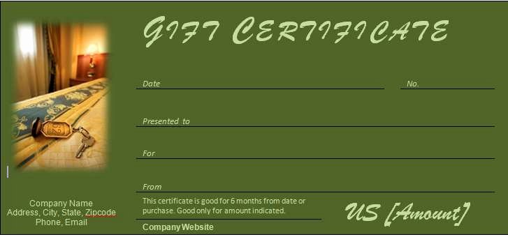 Hotel Gift Certificate Template Luxury 40 Gift Certificates Templates for Any Occasion
