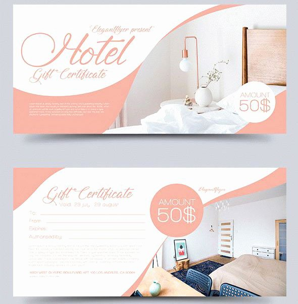 Hotel Gift Certificate Template Luxury 51 Premium & Free Psd Professional Gift Certificates