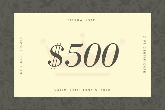 Hotel Gift Certificate Template New Hotel Gift Certificate Templates Canva