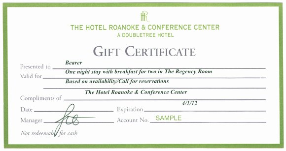 Hotel Gift Certificate Template New Updated 4 4 2011 Jeni Mitchell Claimed Her Prize so