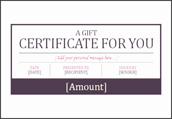 Hotel Gift Certificate Template Unique 9 Free Gift Certificate Templates Sampletemplatess